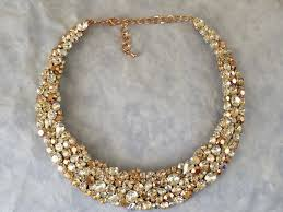 crystal necklace gold chain images 54 statement necklaces gold rose gold tone bridal statement jpg