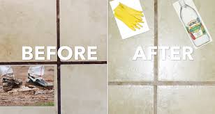 how to clean grout no chemicals using vinegar youtube