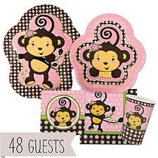 baby shower monkey monkey girl baby shower decorations theme babyshowerstuff