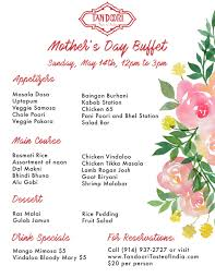 mother u0027s day 2017 special buffet and dinner u2014 tandoori
