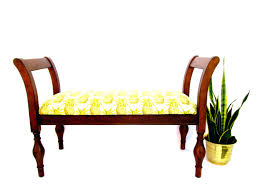Settee Bench With Storage by Upholstered Bench With Armrest Furniture End Of Bed Benches