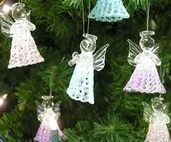 Glass Christmas Ornament Sets - amazon com glass angel decorations set of 6 spun glass praying