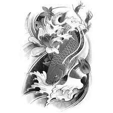 temporary tattoo koi carp b u0026w carp koi 4 artwear tattoo