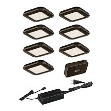 under cabinet led puck lights shop cascadia lighting smart lighting 7 pack 3 in puck light at