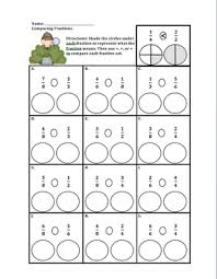 comparing fractions with pictures worksheet u0026 fraction number line