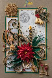 180 best quilling christmas poinsettias images on pinterest