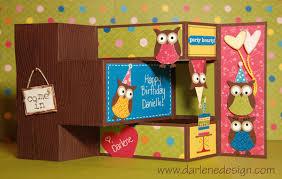 wednesday u0027s card tri fold shutter owl party
