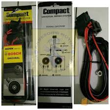 relay set klakson lampu merek bosch include dengan kabel dan
