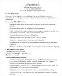 Accounting Resume Objective Samples by 20 Accountant Resume Examples Free U0026 Premium Templates
