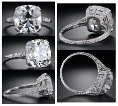 vintage cushion cut engagement rings antique cushion cut rings wedding promise