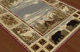 plaid area rugs rustic wildlife rugs including moose and bear rugs black forest