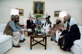Kennedy Oval Office by President Reagan Meeting In The Oval Office With Afghan Mujahideen