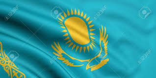 Kazakhstan Flag 3d Rendered And Waving Flag Of Kazakhstan Stock Photo Picture And