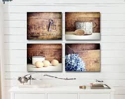 kitchen decor prints or canvas rustic kitchen wall decor