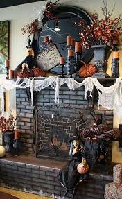Mantel Fireplace Decorating Ideas - 40 spooktacular halloween mantel decorating ideas