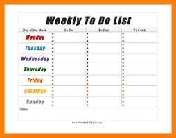 3 weekly to do list template exclusive resumes