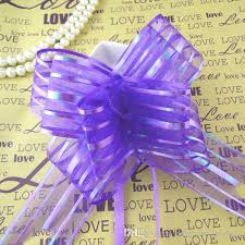 pull bows wholesale wholesale 5cm large size purple color organza pull bows for wedding