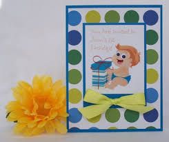 1st birthday invitation handmade card ideas