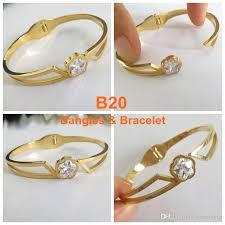 bangle bracelet color gold plated images 18k gold plated bangles bracelet girls charm titanium steel jpg