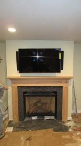 mounting tv above fireplace interesting newtown ct home theater