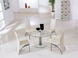 Glass Dining Table And Chairs Round Glass Dining Table Brings The Wow Factor With Unique Styling