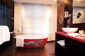 bathroom bathroom ideas magnificent red dragon pattern oval two