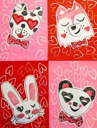 cassie stephens in the art room valentine animals