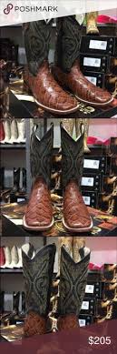 ferrini s boots size 11 s fish pirarucu honey s toe boots brand in box brand is
