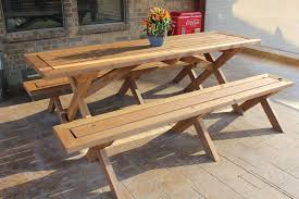 picnic table plans detached benches sleek picnic table with detached benches