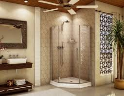 bathrooms design astounding corner bathroom shower glass door