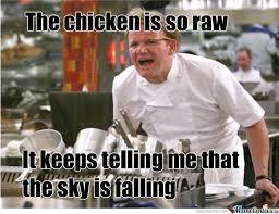 Little Meme - damn it chicken little by potatopenguin meme center