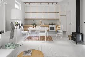 scandinavian design dining table wooden rectangular white