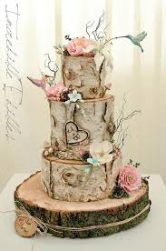 country themed wedding hummingbird and flower birc tree themed country wedding cakes for