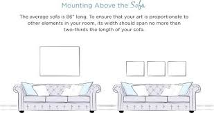 average size of couch wall art size guide wayfair