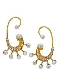 gold kaan earrings gold plated pearl ear cuff earring set cuff earrings earring
