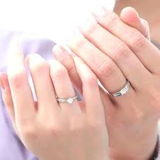 his and hers wedding bands sets wedding ring set his and hers cheap pink wedding ring set