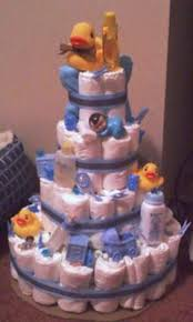 Diaper Centerpiece For Baby Shower by Duck Diaper Cake