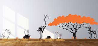 Wall Nursery Decals Themed Wall Decals Nursery Decals Animals