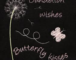 dandelion embroidery etsy