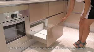 acrylic kitchen cabinets in light champagne from oppein youtube