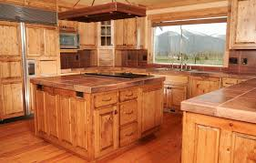 knotty pine kitchen cabinets custom wood doors made in montana