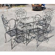 wrought iron patio table and chairs inspiring popular vintage wrought iron patio furniture tedxumkc