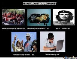 What They Think I Do Meme - anarco syndicalist communist what they think they do by recyclebin