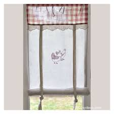 rideaux de cuisine rideau cuisine largeur 45cm décor poules rouges ambiance cagne
