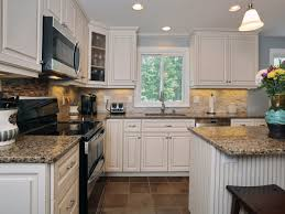 kitchen fancy white kitchen cabinets with tan quartz countertops