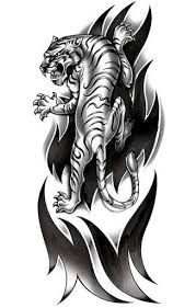 tribal tiger sleeve tattooforaweek temporary tattoos largest