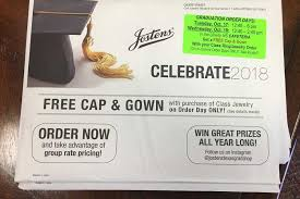 order cap and gown jostens selling grad items tuesday and wednesday wingspan