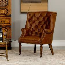Orange Leather Chair Welsh Leather Chair Sarreid Ltd Portal Your Source For The