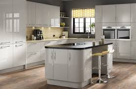grey kitchen island cheap gloss kitchens mustard yellow accent wall kitchen