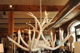 Deer Antler Chandelier Canada White Real Antler Chandelier Modern Mule Deer High Gloss